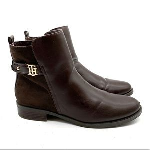 TOMMY HILFIGER LEATHER & SUEDE CHELSEA BOOT SZ 9